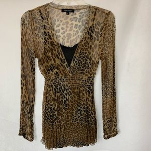 Women's leopard print blouse with cami